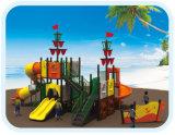 屋外の運動場の海賊船の子供のスライドPlaysets HD-Tsn003
