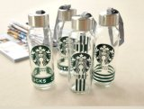 Garrafa de água de Starbuck, frasco bebendo de vidro, recipiente de vidro da venda por atacado