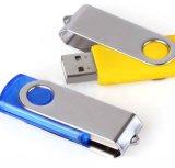 Mini movimentação do flash do USB da forma do giro com logotipo feito sob encomenda