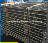 ホックが付いている鋼鉄板の型枠の足場