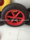 Rodas de borracha contínuas da alta qualidade para o carro da ferramenta