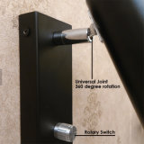 현대 360 정도 교체 보편 헤드 금속 관 3W LED 침실 벽 램프