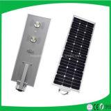 中国の製造業者はカメラ/セリウム、RoHS、IP65、ISOが付いている1つの太陽LEDの街灯の保証5年の屋外6W-100Wすべて承認した