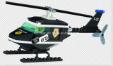 警察シリーズデザイナーパトロールのヘリコプター76PCSのブロックのおもちゃ