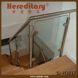 Balaustre de cristal negro revestido del acero inoxidable de la barandilla de la escalera de la potencia de interior (SJ-S132)