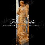 大理石像の石の彫像の花こう岩の彫像金カルシウム彫像氏517