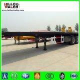3 Ejes 40FT Flatbed Trailer Semi para transporte de contenedores