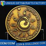 Monedas militares orgullosas de encargo del desafío del metal de la familia del recuerdo del chapado en oro