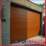 Industrial/Residential de Houten Deur van de Blinden van de Rol van het Aluminium van de Kleur van de Korrel Houten