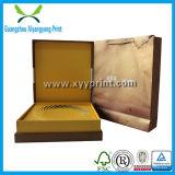 Rectángulo de empaquetado de la cartulina del regalo de papel de encargo del té