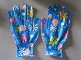 Перчатка работы S-L размера нейлона перчаток 100% сада печатание