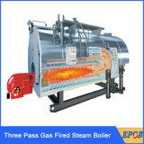 Grande chaudière à vapeur au fuel horizontale