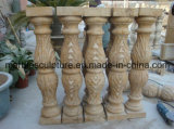 Balustrade en pierre beige d'escalier de sculpture (SY-B005)