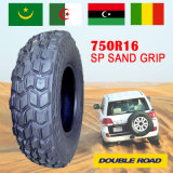 Neumático del apretón de la arena, neumático del postre, neumático del neumático radial 750r16