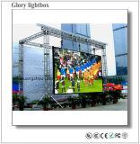 Exhibición de pantalla al aire libre de alquiler P8
