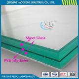 Folha de vidro laminado transparente de preço competitivo com filme PVB