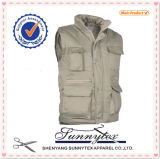 Sunnytex China beiläufige Weste der heißesten Multi-Tasche Baumwollmänner