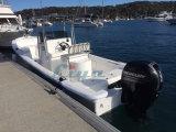 Barco del Panga de la pesca del casco de la fibra de vidrio de la costilla de la cabina de Liya los 7.6m (SW760)