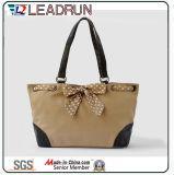 Sacchetto di acquisto non tessuto della mano della tela di canapa del cotone del cuoio del sacchetto di acquisto dello zaino (X020)