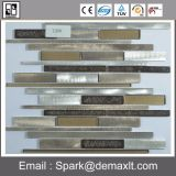 Großhandelsinnendekoration-selbstklebende Goldmosaik-Aluminiumfliese