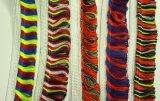 Espessura de cores brilhantes Fralda de borla de nylon para roupa de palco Têxtil / Macrame latino