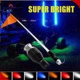 2017 Aufsteigen-LED beleuchtete Peitschen mit Markierungsfahne RGB 4FT/5FT/6FT für WARNING, Sicherheit, Dekoration