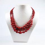 Collares de acrílico de cristal de la joyería de la manera de los granos de la nueva resina del item