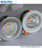 techo de plata inclinable y movible Downlight de 6-35W de la MAZORCA LED