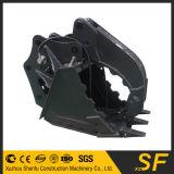El compartimiento del gancho agarrador de las piezas del excavador, ataca el compartimiento