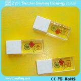 Plastikschutzkappen-Kristall USB-Laufwerk mit farbenreichem Firmenzeichen (ZYF1510)