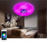 Lampe ronde intelligente de obscurcissement intelligente de salle de séjour de lampe de chambre à coucher de plafonnier de musique de Bluetooth RVB de téléphone mobile de fournisseur de la Chine