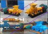 Machine van de Pers van de Briket van de Extruder van de Stok van het Poeder van de Steenkool van de Houtskool van China de Zilveren