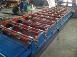 A placa de aço coloriu a telha o telhado ondulado de aço galvanizado que lamina a formação da máquina