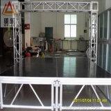 La passerelle mobile extérieure en verre acrylique assemblent l'étape en bois d'exposition de danse d'étalage portatif de mariage