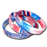 Multi цвет смешал Wristband силикона свирли камуфлирования