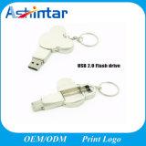 Palillo de la memoria del USB de la historieta del disco de destello del USB del Keyring del metal
