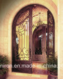 家のための手作りされた機密保護の錬鉄の前ドア