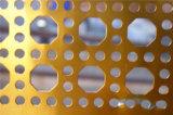 穴があいた金属のパンチ穴の網か穴があいた金網