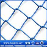 Frontière de sécurité de haute résistance de rideau tissée par diamant en maillon de chaîne