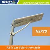 El camino solar integrado de la lámpara de calle del LED enciende 30W