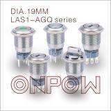 De Drukknop van het Metaal van Onpow (las1-AGQ Reeks, 19mm, RoHS, Ce, UL, CCC)