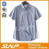 Ultima camicia di cotone casuale misura degli uomini con una casella