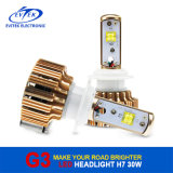 Ampoules de moto du phare H7 30W 3000lm de Rose LED de l'or G3