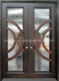 Шикарные домашние используемые двойные двери ковки чугуна используемые входом передние
