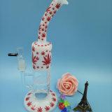 Tubulação de água de fumo colorida do vidro de Borosilicate com favo de mel