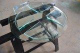 стекло полки мебели 3-12mm Tempered с отверстиями, круглыми углами