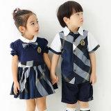 Les laines sexy pures de jupe de supports/les uniformes scolaires élevés Primarymiddle de coton ont personnalisé le logo