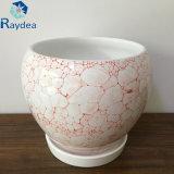 POT di ceramica della piantatrice della decorazione quadrata del giardino