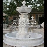 Fuente blanca Mf-1024 de Carrara de la fuente de la piedra de la fuente de la fuente de mármol del granito