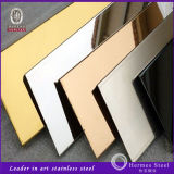 Stainless Steel Worksのための304第8 Supper Mirror Gold Finish Stainless Steel Sheet